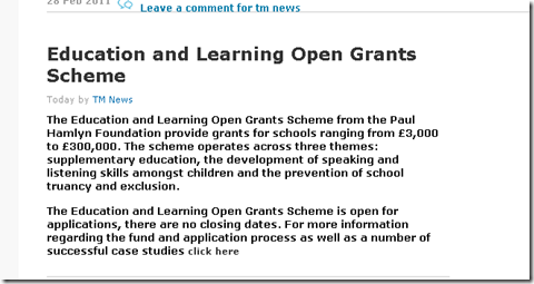 Education learning and Open grants