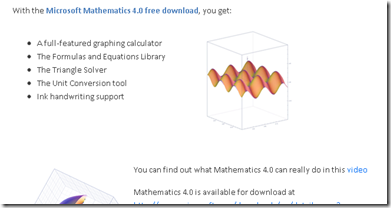 Microsft Maths 4.0 Free Download