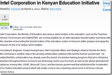 kenyan initiative